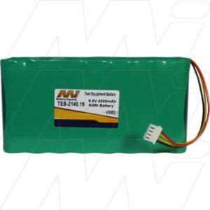 AEMC 6240 Test Equipment Battery, 9.6V, 4Ah, NiMH, TEB-2140.19