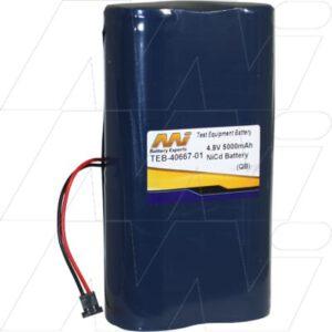 Applied Power Test Equipment Battery, 4.8V, 5Ah, NiCd, TEB-40667-01