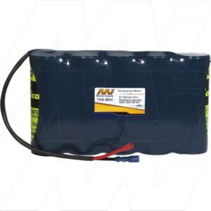 AEMC 5600 Digital Micro-Ohmmeter 10A Test Equipment Battery, 6V, 7Ah, NiCd, TEB-5600