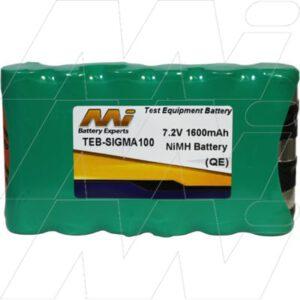 Cashmaster Cash Counter Test Equipment Battery, 7.2V, 1.6Ah, NiMH, TEB-SIGMA100