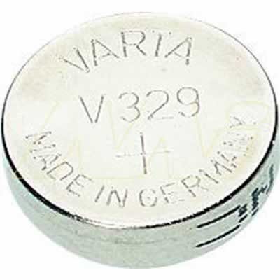 1.55V Silver Oxide Button / Coin Cell 36mAh, Varta, V329-TN1