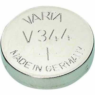 1.55V 100mAh Silver Oxide V344 TN1 Button / Coin Cell, Varta