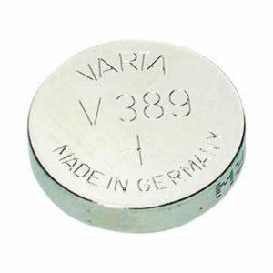 1.55V Silver Oxide Button / Coin Cell 85mAh, Varta, V389-BP1