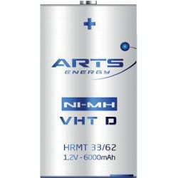 1.2V VHT D Nickel Metal Hydride - NiMH Sleeved (CFG) super high power, Arts Energy, 6000mAh, VHT D