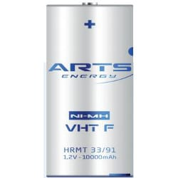 1.2V VHT F Nickel Metal Hydride - NiMH Sleeved (CFG) super high power, Arts Energy, 10000mAh, VHT F