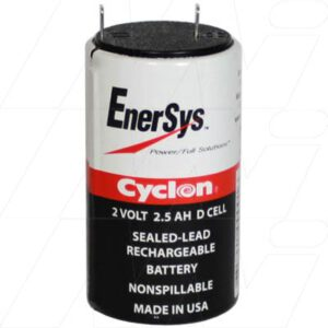 2V D Sealed Lead Tin Cyclon Cell 2500mAh, Hawker, 0810-0004