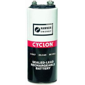 2V BC Sealed Lead Tin Cyclon Cell 25000mAh, Hawker, 0820-0004