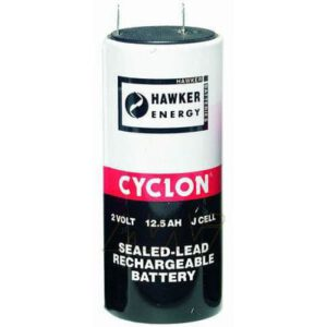 2V J Sealed Lead Tin Cyclon Cell 12500mAh, Hawker, 0840-0004