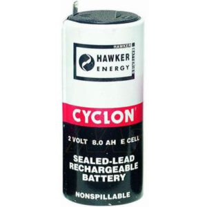 2V E Sealed Lead Tin Cyclon Cell 8000mAh, Hawker, 0850-0004