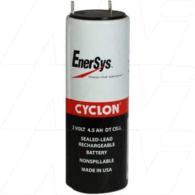 2V TALL D Sealed Lead Tin Cyclon Cell 4500mAh, Hawker, 0860-0004