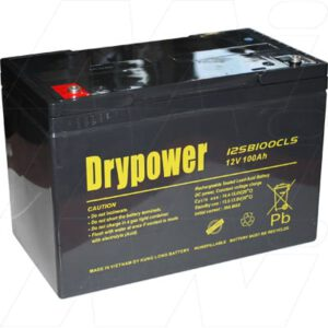 12V SLA Golf Buggy Cell, 100Ah, Drypower, 12SB100CLS