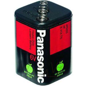 6V Lantern Carbon Zinc All Carbon Zinc Consumer Lantern Battery, Panasonic, 4R25