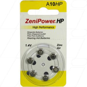 1.4V 80mAh Button / Coin Hearing Aid Battery A10 BP6, Zenipower