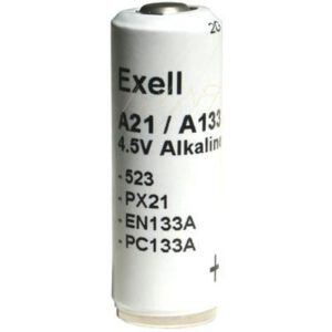 4.5V Alkaline Specialised Cylindrical Cell 600mAh, Exell, A133-BP1