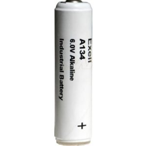6V Alkaline Specialised Cylindrical Cell 600mAh, Exell, A134-BP1