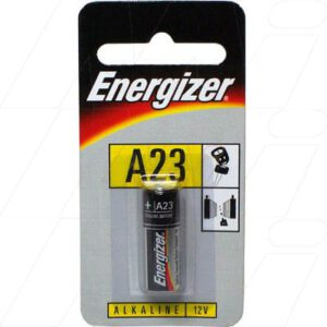 12V Alkaline Specialist Cylindrical Cell Cell, 65mAh, Energizer, A23-BP1