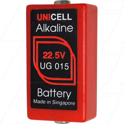 22.5V Alkaline Specialist Test Cell, 140mAh, Unicell, A412-BP1