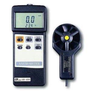 Lutron Anemometer With Temperature (Rs232 Output), AM4203