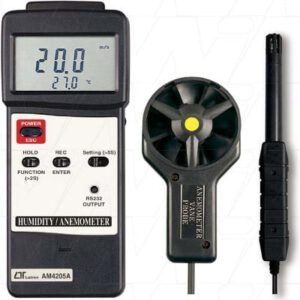 Lutron Anemometer with Humidity & Temperature., AM4205A