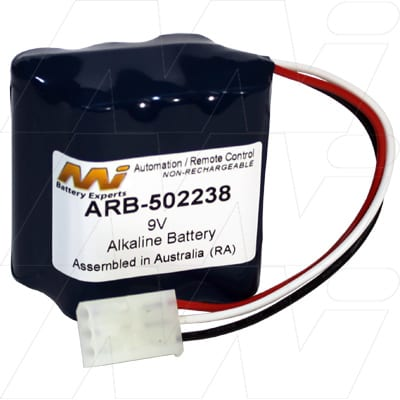 Kaba Ilco Unican 88490 Automation & Security Remote Control Battery, 9V, Alkaline, ARB-502238