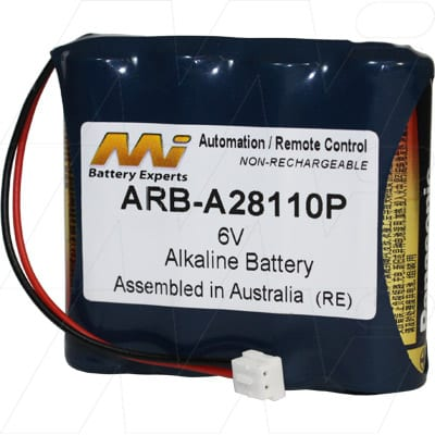 Saflok MT Series Automation & Security Remote Control Battery, 6V, Alkaline, ARB-A28110P