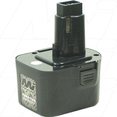 Black & Decker CD1200K Power Tool Battery, 12V, 2.5Ah, NiCd, BCD-DW9074XE-BP1