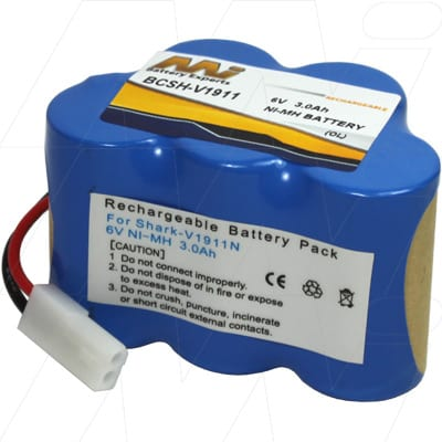 Euro-Pro Shark V1911 Vacuum Cleaner Battery 6V 3Ah NIMH BCSH-V1911
