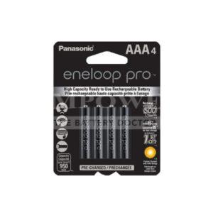 1.2V AAA 4 Pack Nickel Metal Hydride Panasonic Eneloop Pro 950mAh, 4Pk, BK-4HCCE/4BT
