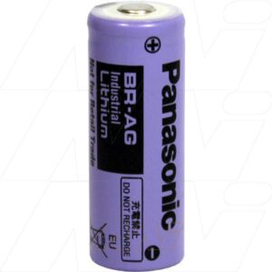 3V 4/5A Lithium Poly-carbonmonoflouride Cylindrical Batteries 2.2Ah, Panasonic, BR-AG