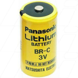 3V C Lithium Poly-carbonmonoflouride Cylindrical Cells 5Ah, Panasonic, BR-C