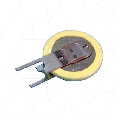 3V Button / Coin Lithium Specialised Cell BR1220-1VC PCB Mount 35mAh, Panasonic