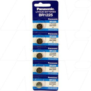 3V Button / Coin Lithium Manganese Button / Coin Cell 48mAh, Panasonic, BR1225-BP5(p)