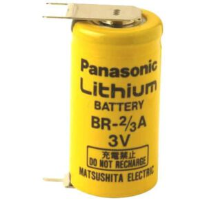 3V 2/3A Lithium Poly-carbonmonoflouride 2/3A Cylindrical Cell 1200mAh, Panasonic, BR2/3AE2SPE