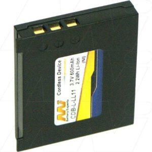 Logitech G7 Cordless Laser Mouse Battery, 3.7V, 600mAh, LiIon, CDB-L-LL11