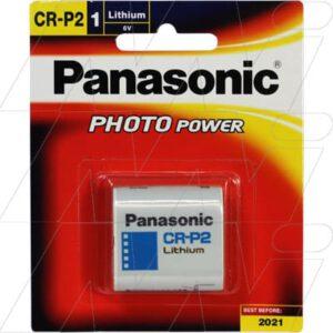 6V Lithium Photo Battery replaces CRP2, DL223A, EL223A, K223L 1.4Ah, Panasonic, CR-P2-BP1