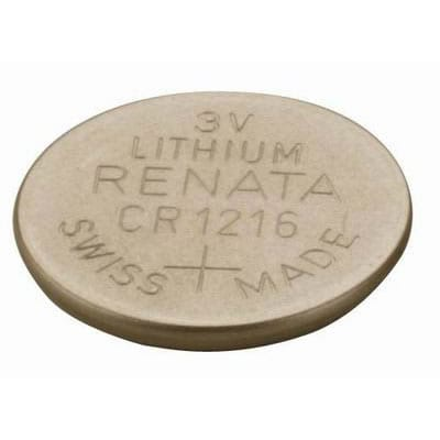 3V 25mAh Button / Coin CR1216 (R) Lithium Manganese Cell, Renata