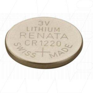 3V Button / Coin Lithium Manganese Button / Coin Cell 35mAh, Renata, CR1220(R)
