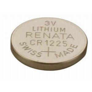 3V 48mAh Button / Coin CR1225 (R) Lithium Manganese Cell, Renata