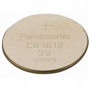 3V Button / Coin Lithium Manganese Button / Coin Cell 40mAh, Panasonic, CR1612-BP5(p)