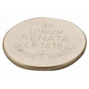 3V Button / Coin Lithium Manganese Button / Coin Cell 75mAh, Renata, CR1616(R)