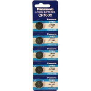 3V Button / Coin Lithium Manganese Button / Coin Cell 125mAh, Panasonic, CR1632-BP5(p)