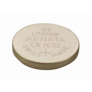3V Button / Coin Lithium Manganese Button / Coin Cell 125mAh, Renata, CR1632(R)