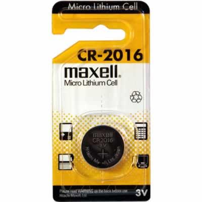 3V 90mAh Button / Coin CR2016 BP1 (M) Lithium Manganese Cell, Maxell