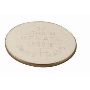 3V Button / Coin Lithium Manganese Button / Coin Cell 90mAh, Renata, CR2016(R)