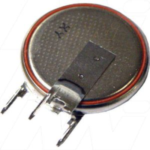 3V 170mAh Button / Coin CR2025RV Lithium Manganese Dioxide Specialised Cell PCB Mount, Renata