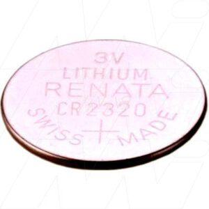 3V 150mAh Button / Coin CR2320 (R) Lithium Manganese Cell, Renata
