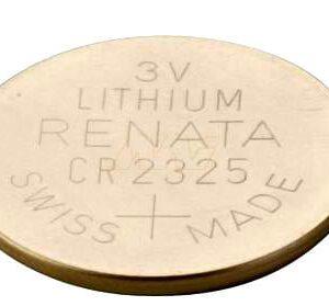 3V Button / Coin Lithium Manganese Button / Coin Cell 190mAh, Renata, CR2325(R)