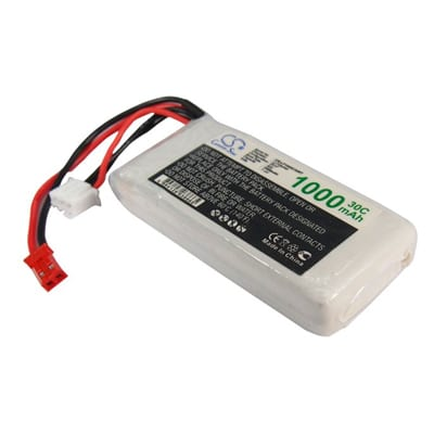 Airplane Remote Control Toy Batteries, 7.4V, 1000mAh, 2xLi-Polymer, LP1002C30RT
