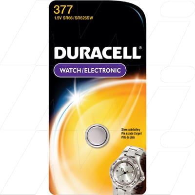 1.55V SR626 Silver Oxide Watch Batteries Cell, Duracell, D377