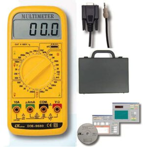 Lutron Multimeter - With Rs232 Interface With Hard Case & Software, DM9680 kit form